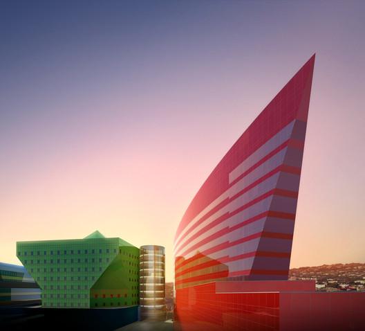 Red Building © Jeff Goldberg/Esto