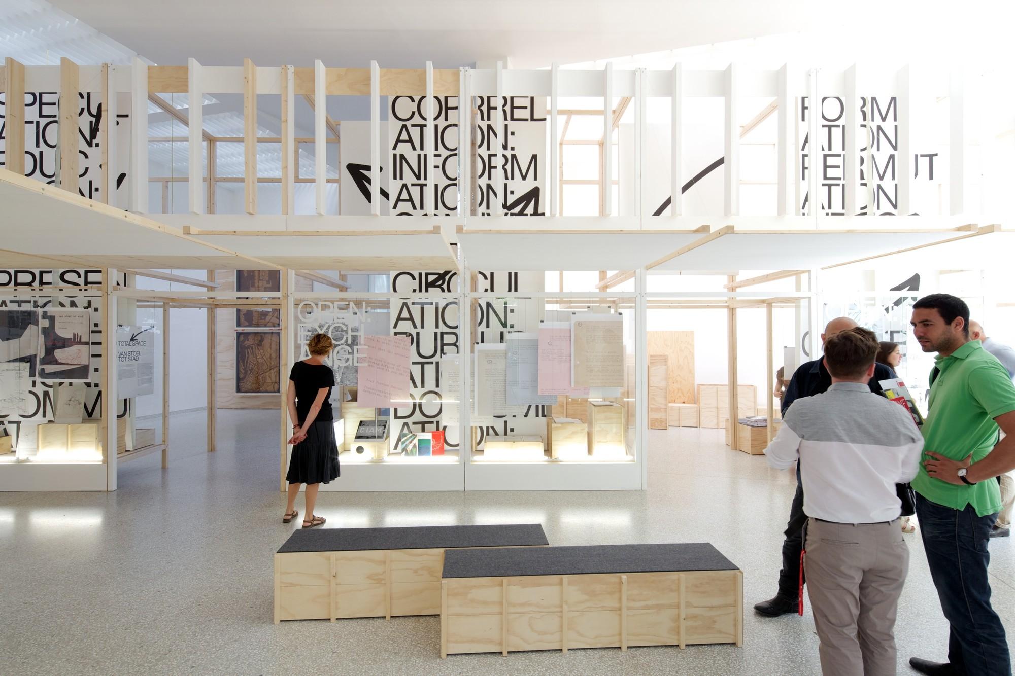 "Inside ""Open: A Bakema Celebration"" - The Dutch Pavilion at the 2014 Venice Biennale, Open: A Bakema Celebration. The Netherlands Pavilion at the 2014 Venice Biennale. Image © Nico Saieh"