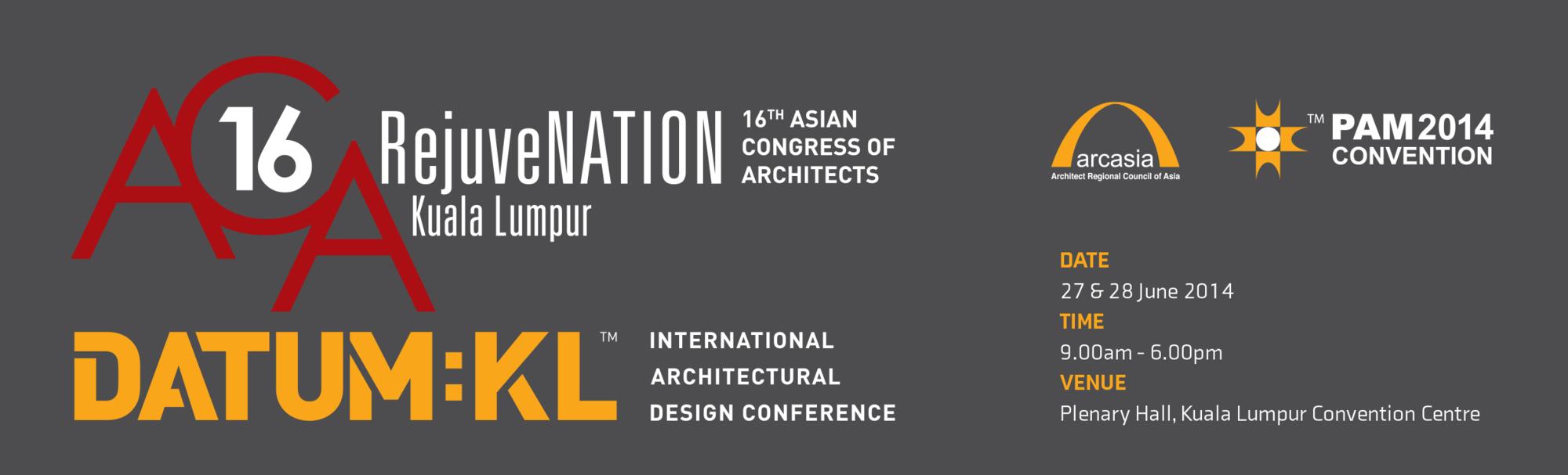 16th Asian Congress of Architects, em Kuala Lumpur