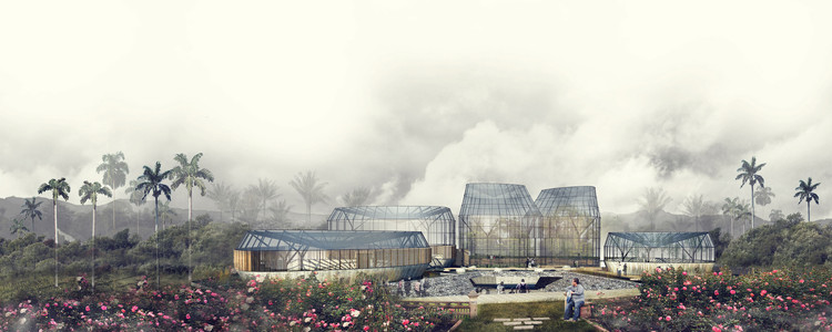 Primer Lugar en concurso público para el diseño del nuevo Tropicario del Jardín Botánico / Bogotá, Colombia, Cortesía de De Arquitectura y Paisaje