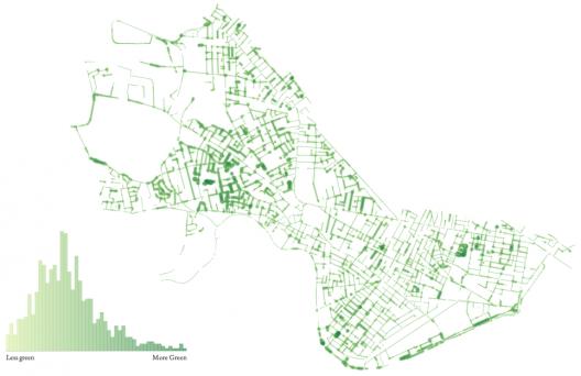 """""""You Are Here"""": Mapas da experiência humana nas cidades, Áreas verdes em Cambridge"""