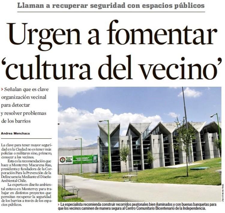 """Implementación del Movimiento Social """"Pro-Vecino"""" para regenerar el tejido urbano"""