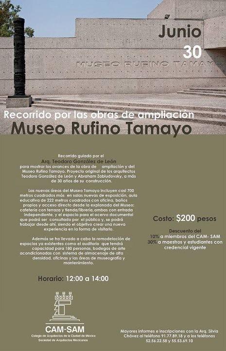 Arq. Teodoro González de León guiará un recorrido para conocer las obras de ampliación del museo Rufino Tamayo