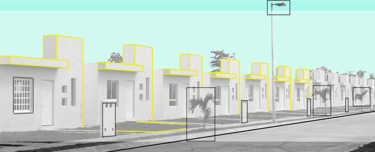 Observación: Elementos físicos de la vivienda social en México