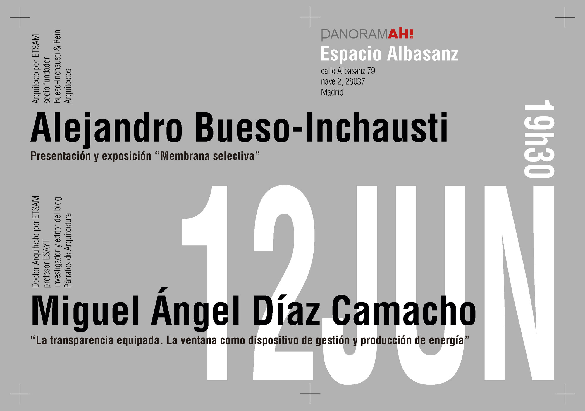 Conferencia bueso inchausti rein arquitectos madc for Muebles inchausti