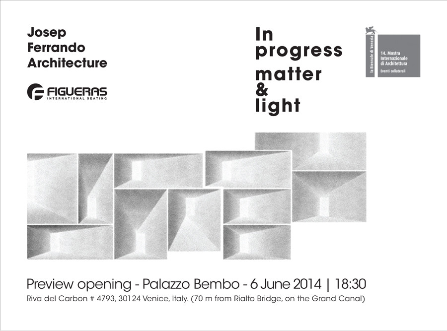 Bienal de Venecia: Josep Ferrando y Figueras International Seating presentan 'In Progress Matter & Light'