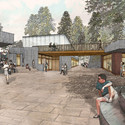Arrival in Meadow Plaza. Image © Tod Williams Billie Tsien Architects