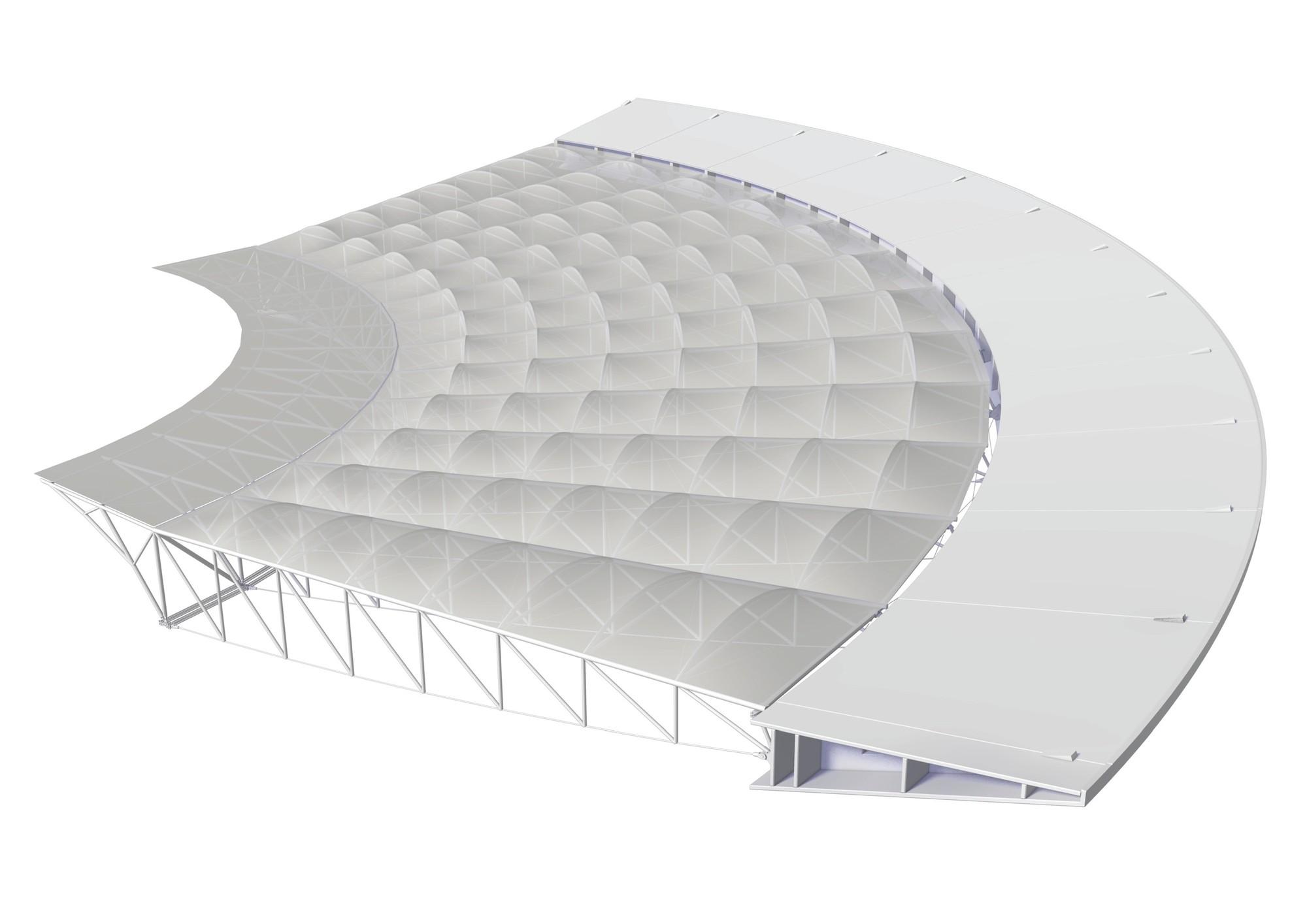 Maracanã Stadium Roof Structure,Diagram
