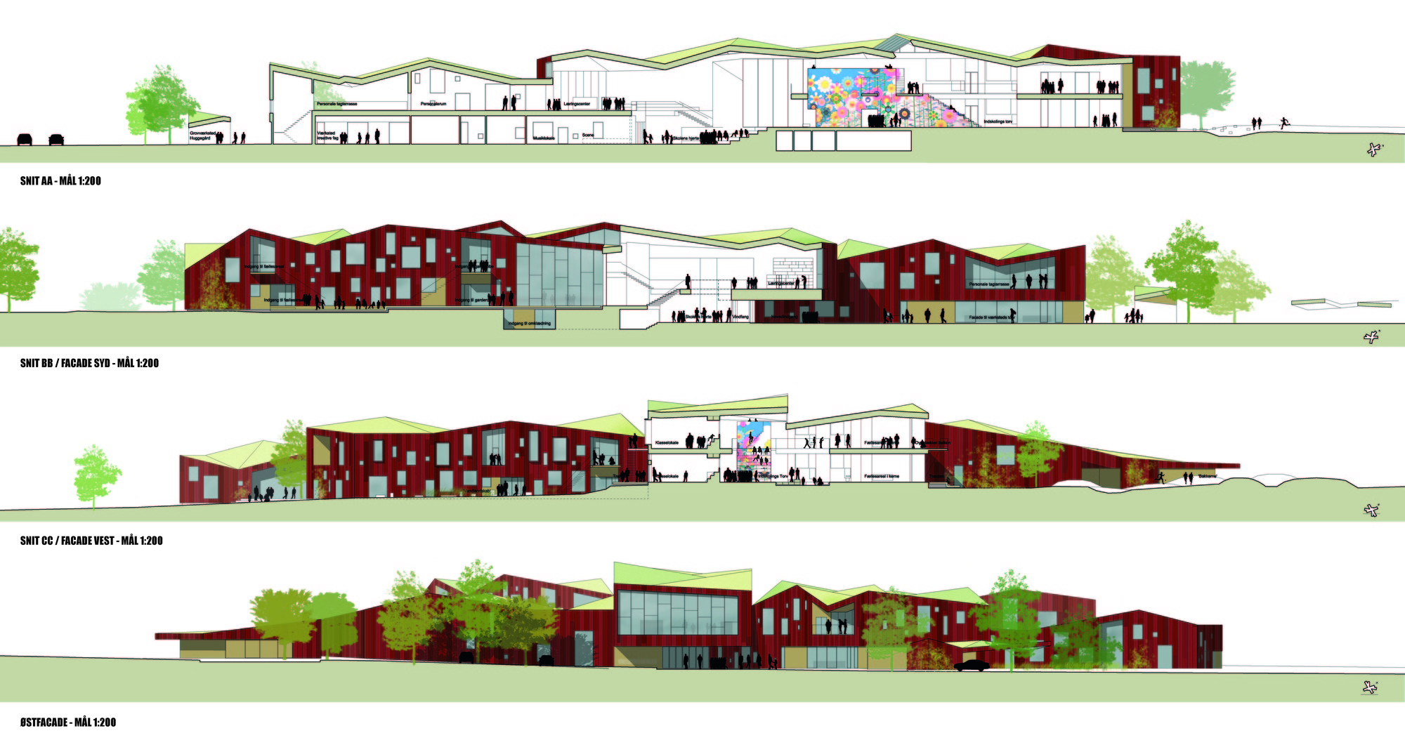 Primary School Plan Elevation : Gallery of the vibeeng school arkitema architects