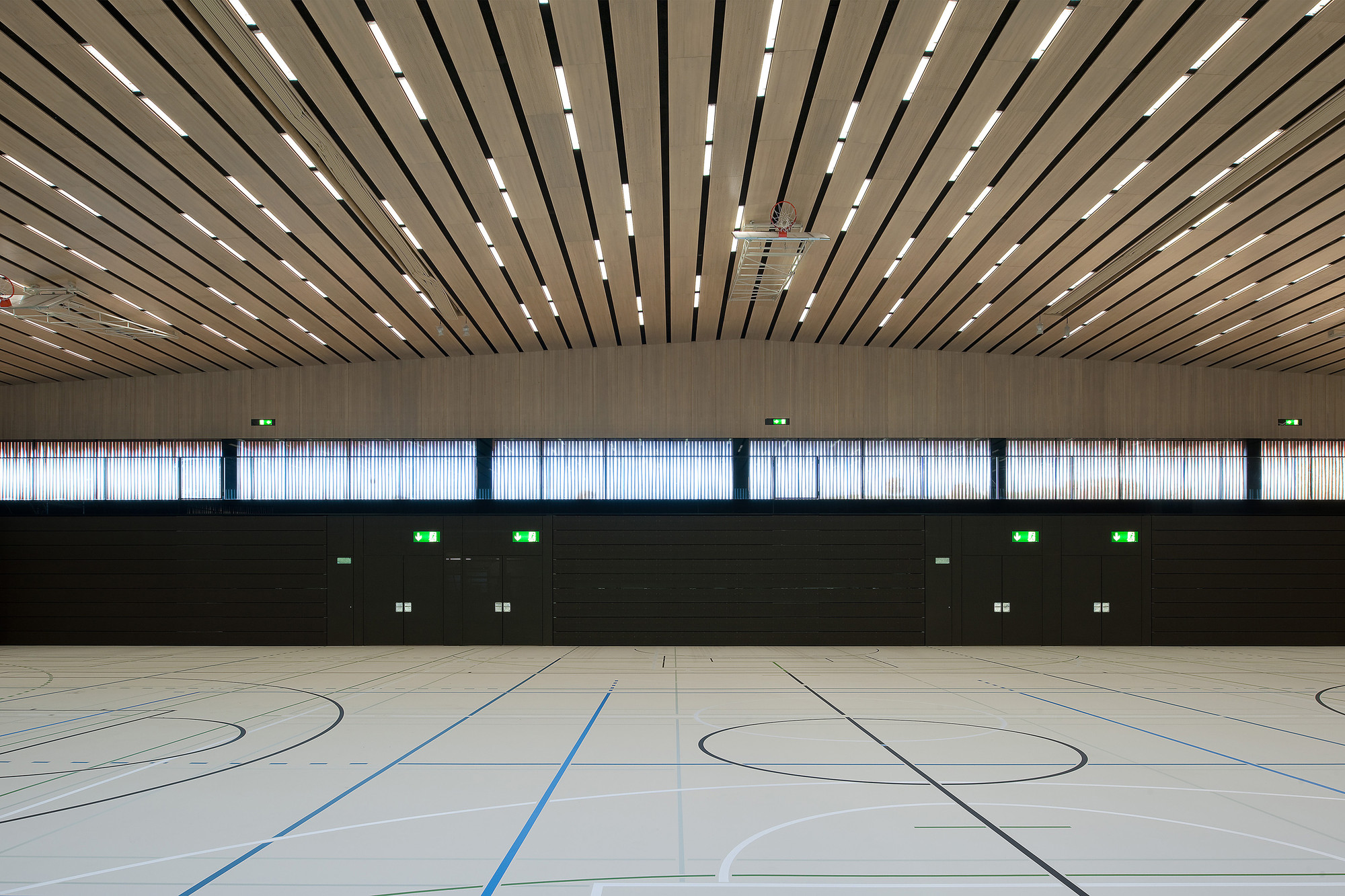 Lussy Sport Hall Virdis Architecture Archdaily