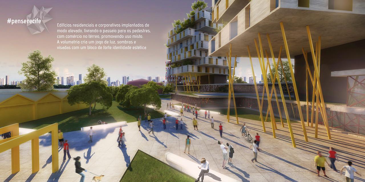 Projeto #penserecife - uma proposta de ocupação do Cais José Estelita em Recife - PE, Courtesy of Projeto #penserecife