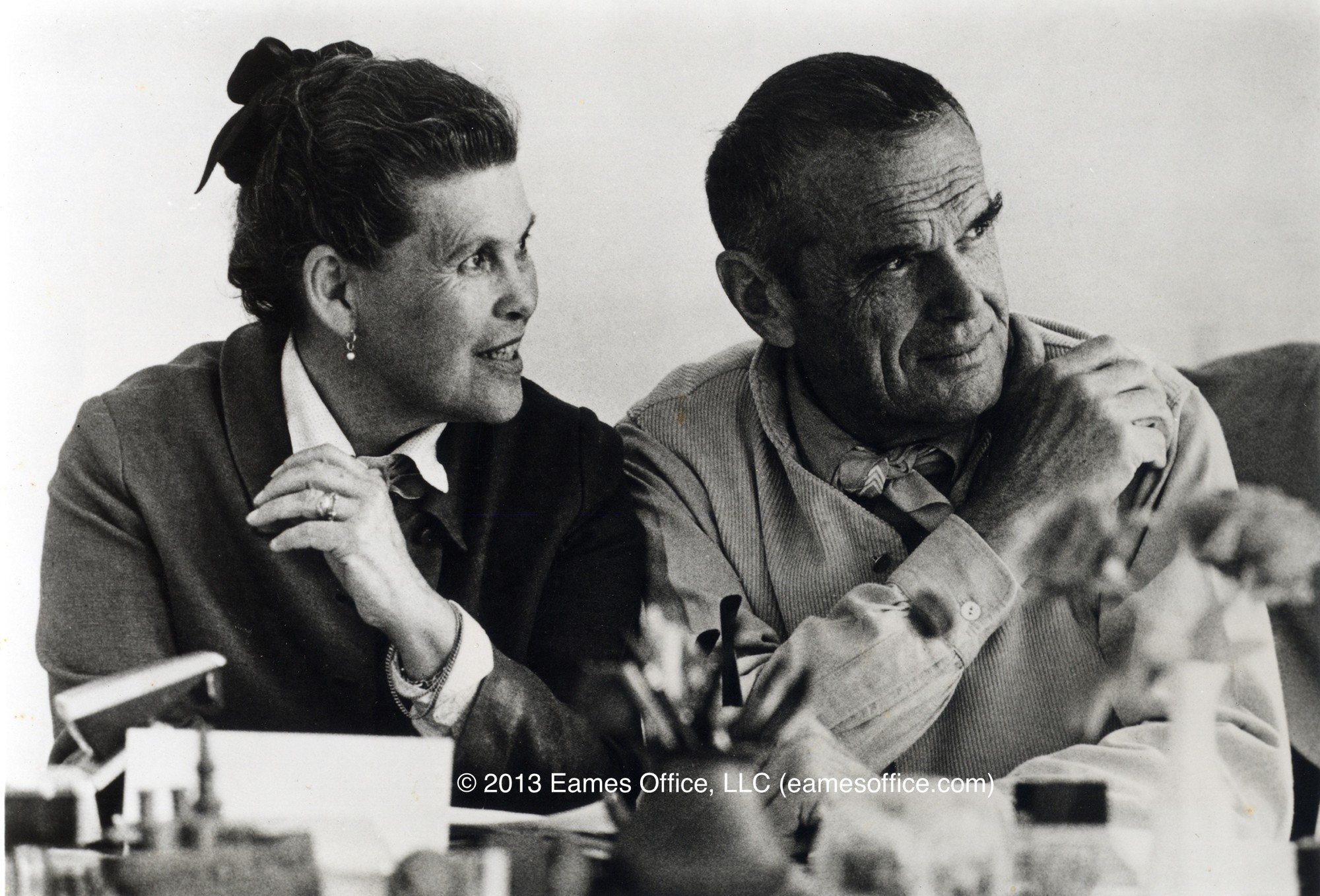 Happy Birthday Charles Eames, Ray and Charles Eames. Image © Eames Office