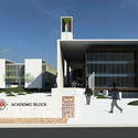 School of Architecture & Planning, Bhopal: View of the academic block. Image Courtesy of Abin Design Studio