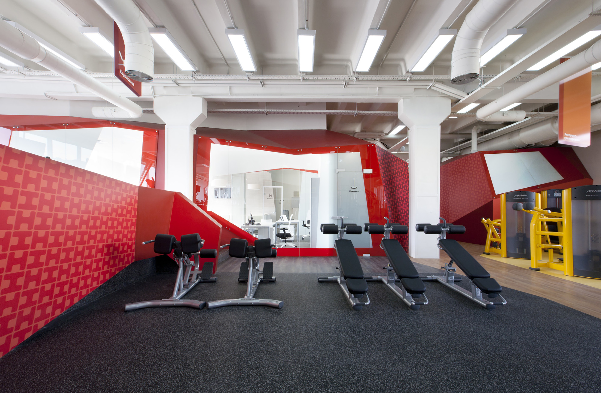 Smena Fitness Club Za Bor Architects ArchDaily