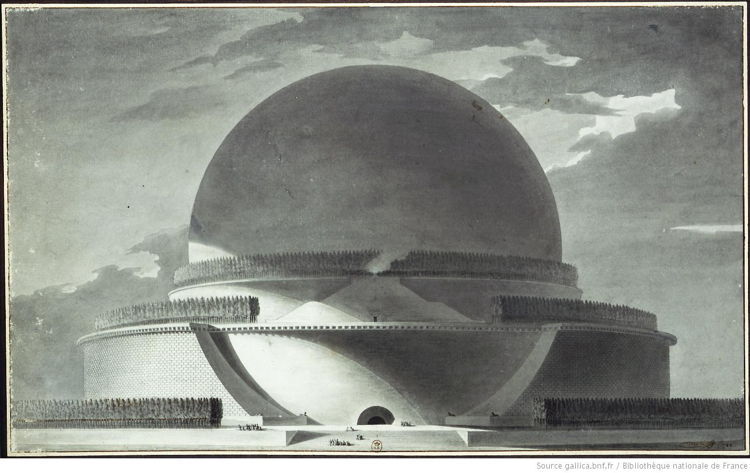 AD Classics: Cenotaph for Newton / Etienne-Louis Boullée, Exterior view