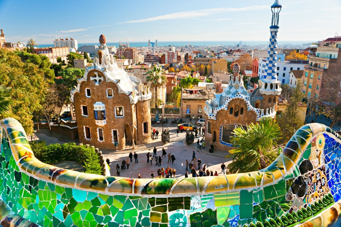 A Gaudí Guide to Barcelona, Parc Guell. Image Courtesy of http://www.lowcostholidays.com/