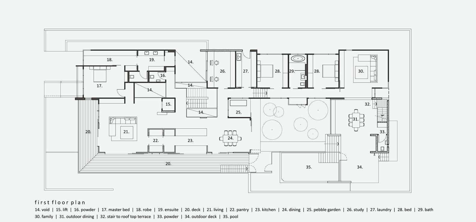 Boarding House,Floor Plan
