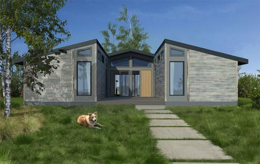 LivingHomes' Design. Image Courtesy of Living Homes