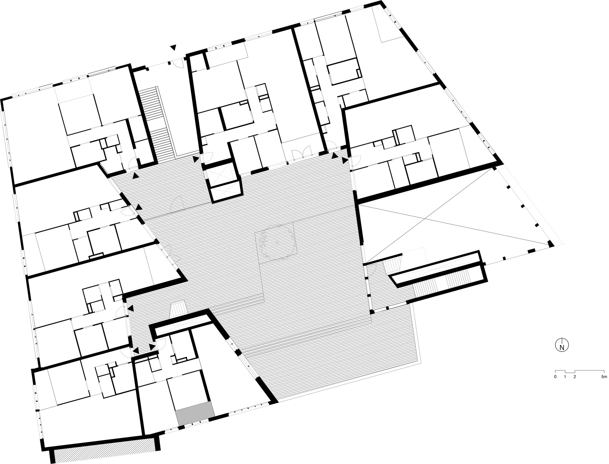 Gallery of apartment building on the willem wilminkplein for Floor plans manhattan apartment buildings