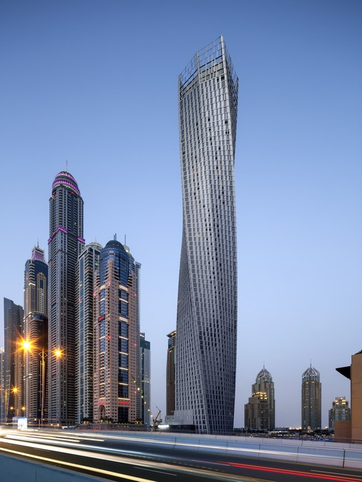 CTBUH Names Its Winners for Best Tall Building 2014, Cayan Tower / SOM. Image © Tim Griffith / SOM