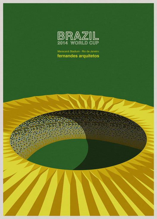 Los estadios del Campeonato Mundial de Brasil, en geniales Ilustraciones, © André Chiote