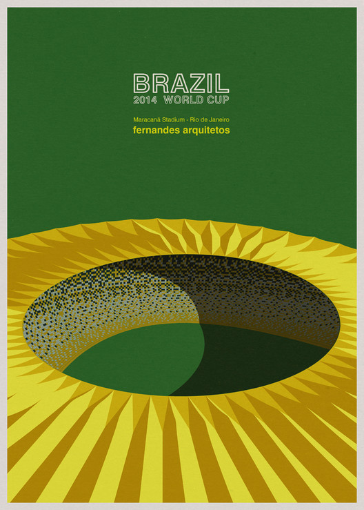 The World Cup Stadiums of Brazil, In Awesome Illustrations, © André Chiote
