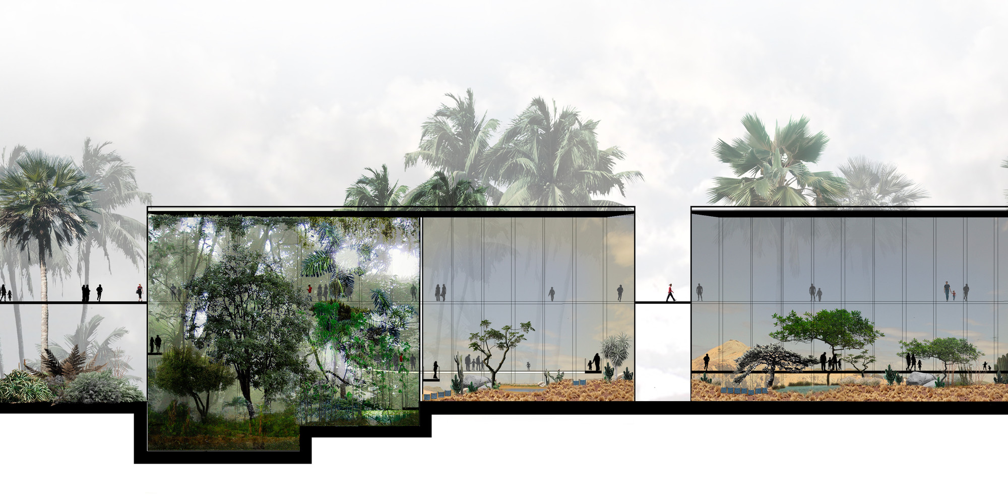 Galer a de segundo lugar en concurso p blico para el for Centro de eventos jardin botanico