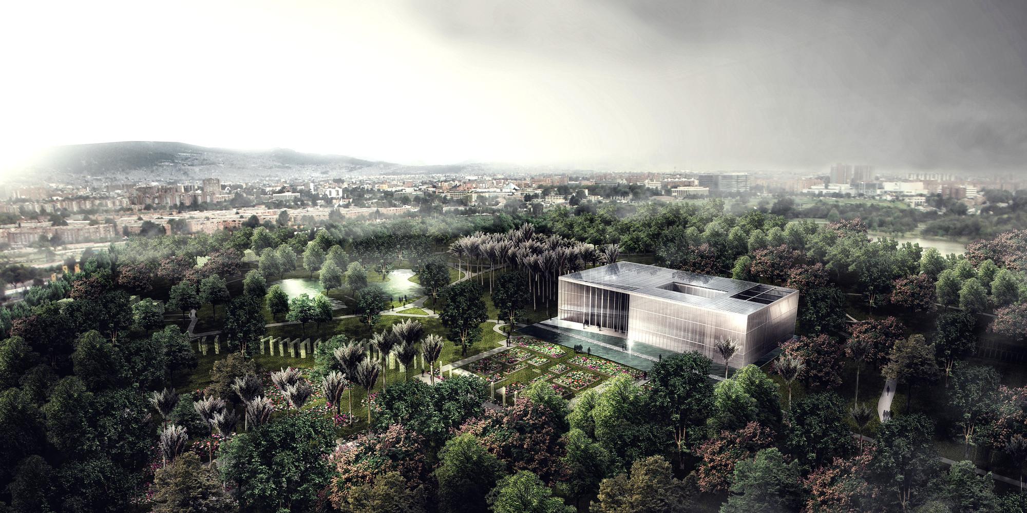 Segundo lugar en concurso público para el diseño del nuevo Tropicario del Jardín Botánico / Bogotá, Colombia, Vista general. Image Courtesy of Equipo Segundo Lugar