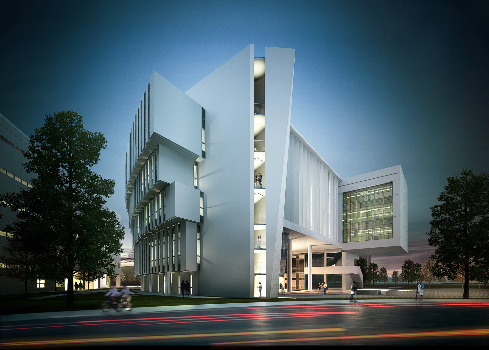 Perkins + Will Designs FIU Complex for the Research of Extreme Natural Events, South East View. Image Courtesy of Perkins + Will