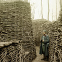 Famous Colour Photographer Hans Hilderbrand's Photo Of The Wooden Trenches During WWI. Image Courtesy of Hans Hildenbrand
