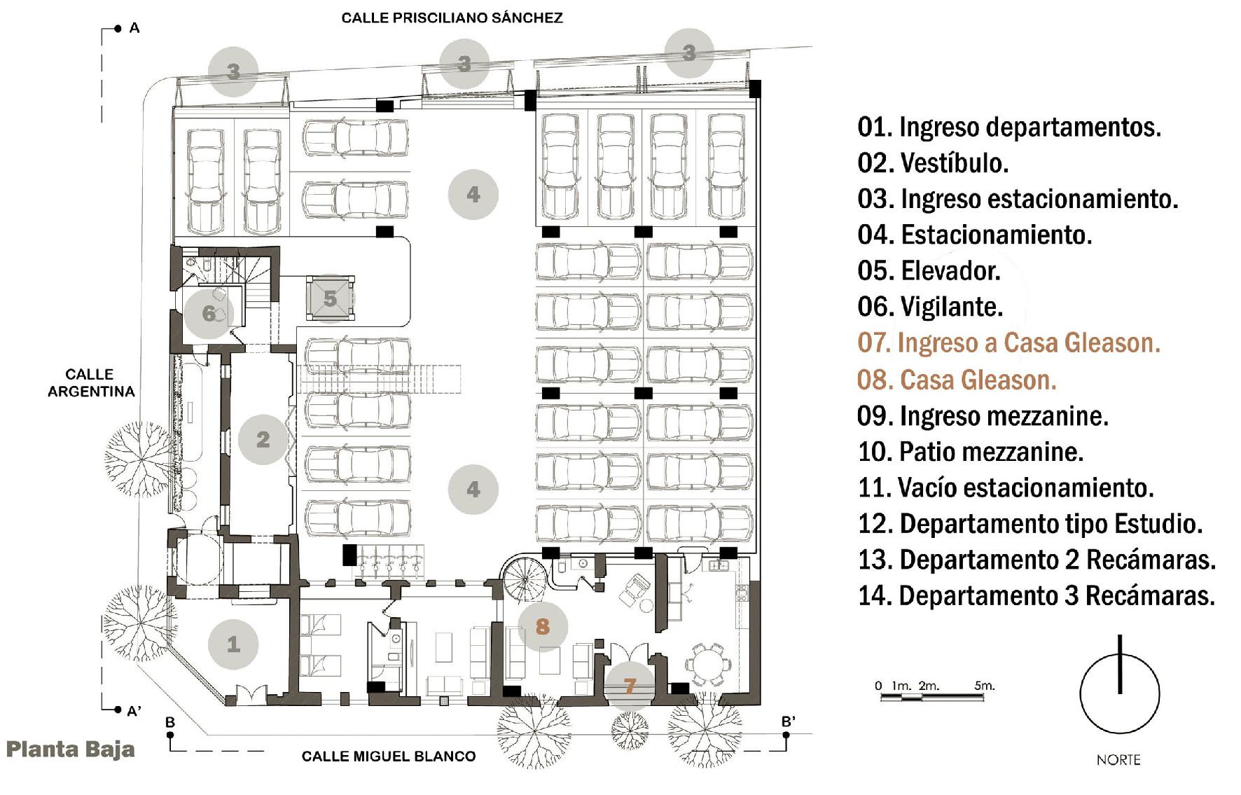 Galeria de edif cio residencial gleason trama for Departamentos alargados
