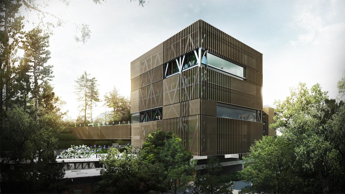 Mención honrosa en competición del diseño de Facultad de Ingeniería de la Pontificia Universidad Javeriana / Colombia, Courtesy of LAROTTA + DAMM arquitectura