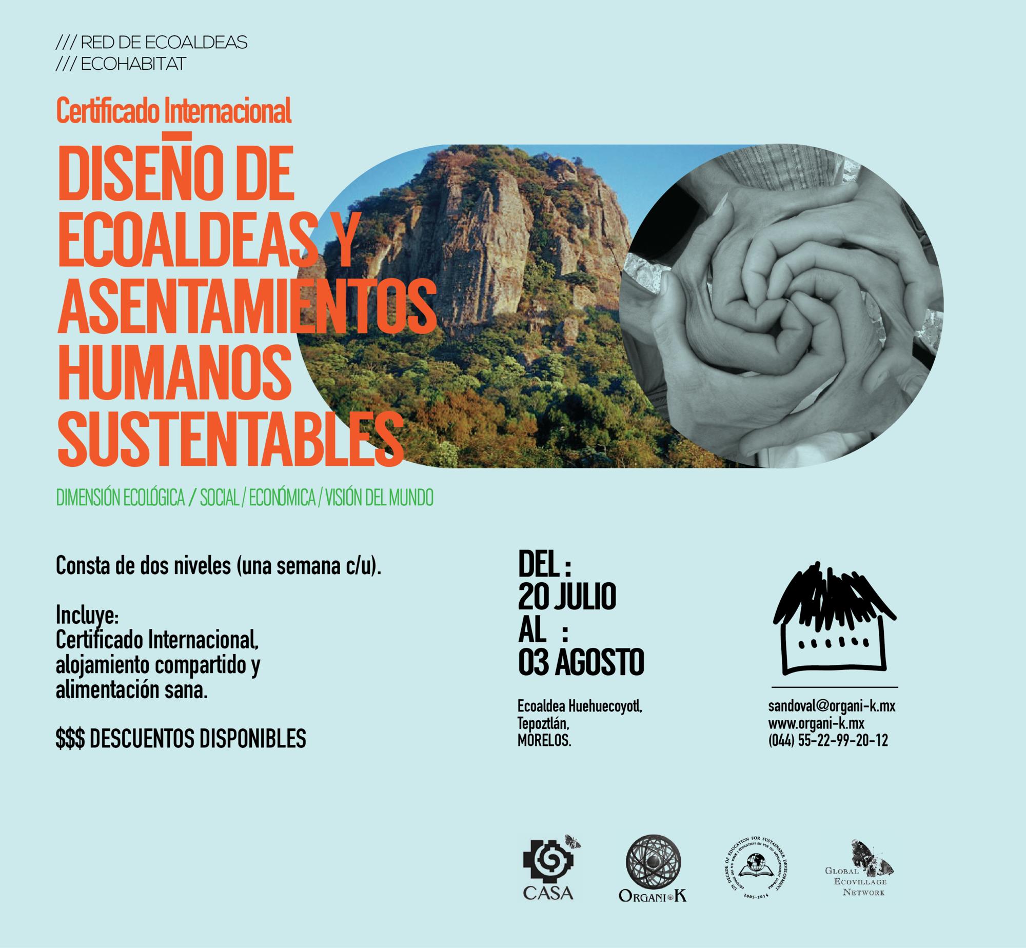 Certificación Internacional en Diseño de Ecoaldeas y Asentamientos Humanos Sustentables