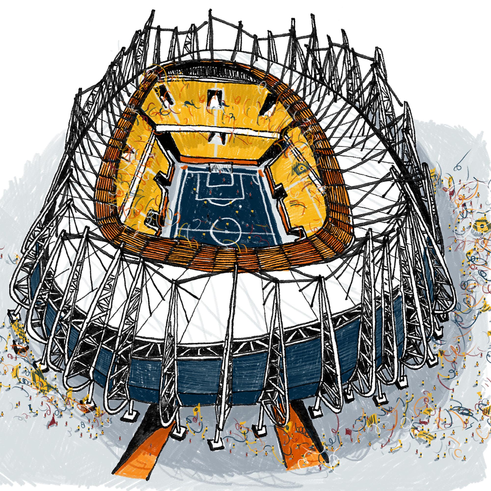 Estádios da Copa ilustrados pelo estúdio Vapor 324