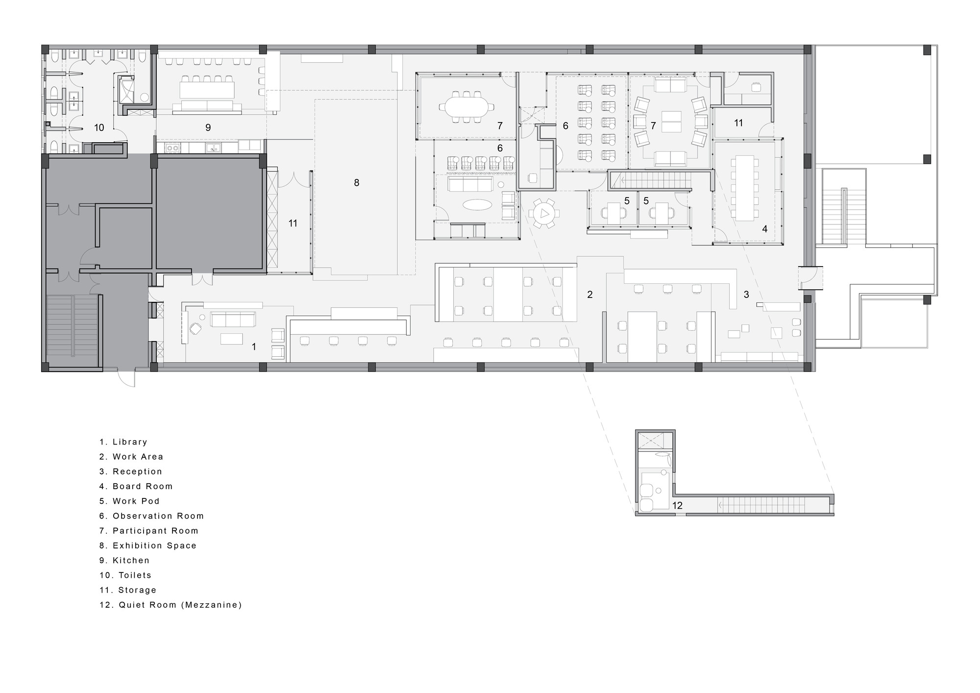 office floor plan design. flamingo shanghai office neri u0026 hu design and research 16 23 floor plan