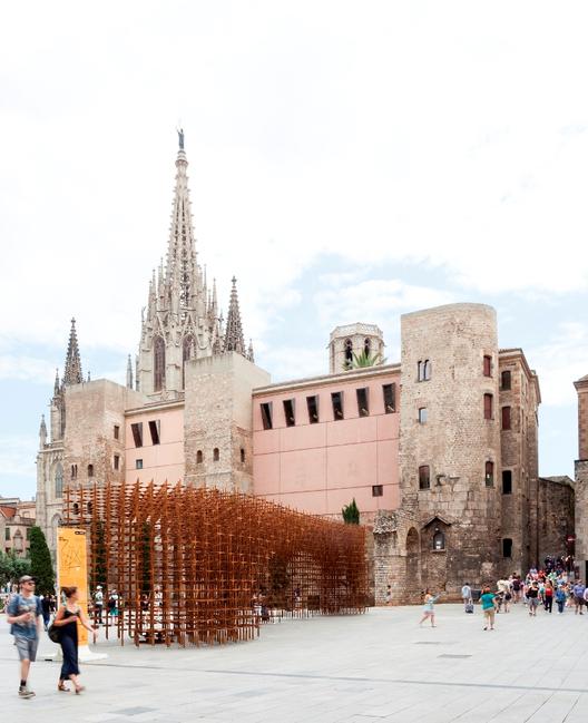 Barcelona comemora 300 anos de espírito catalão com 7 instalações públicas, Identidade / URBANUS. Imagem © Marcela Grassi