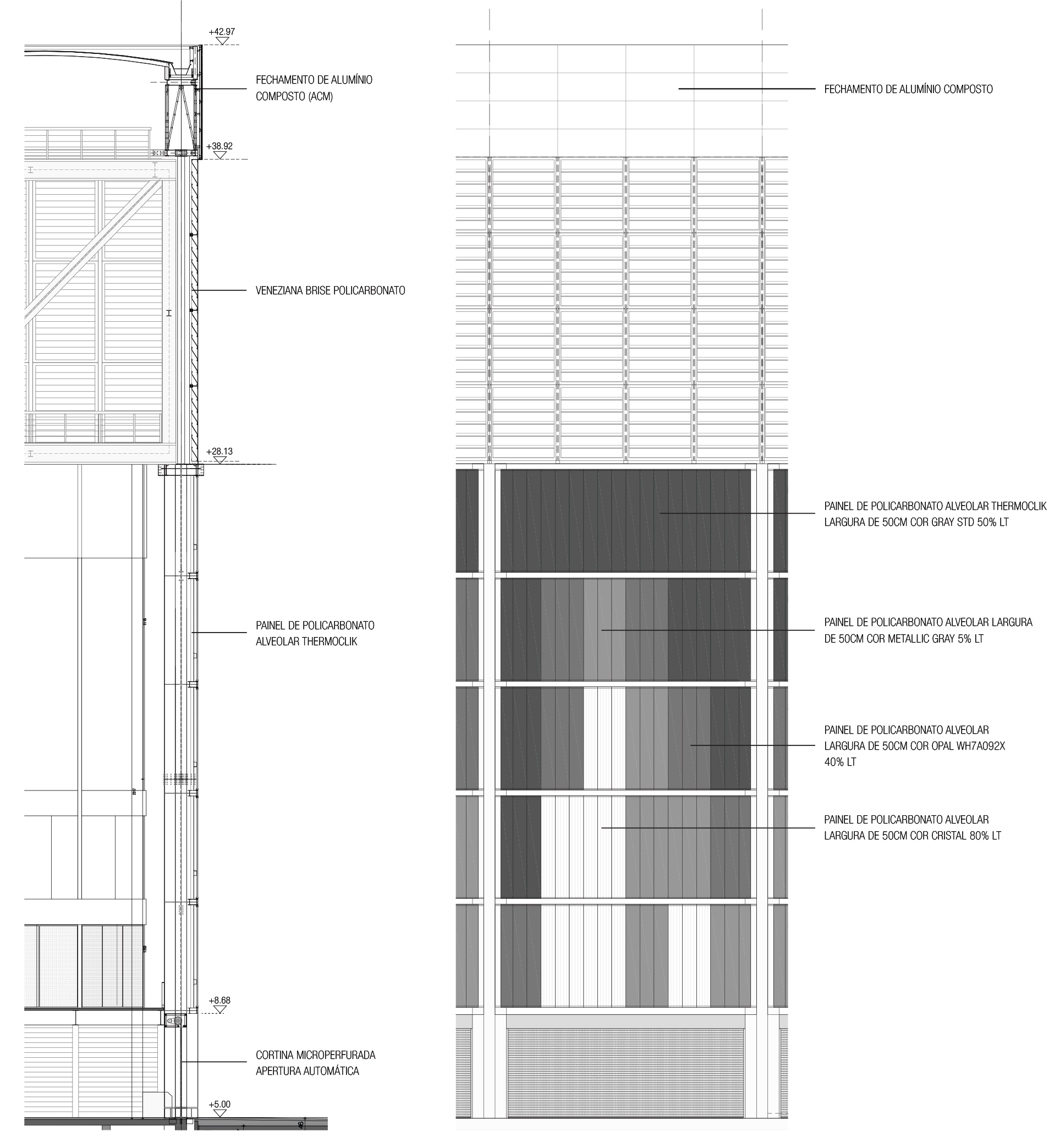 En detalle estructuras a gran escala estadios for Piso tecnico detalle
