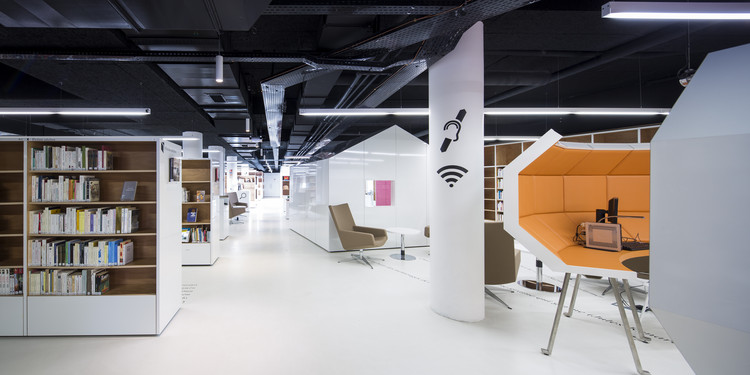 Mediateca de Bourget / Randja - Farid Azib Architects, © Luc Boegly