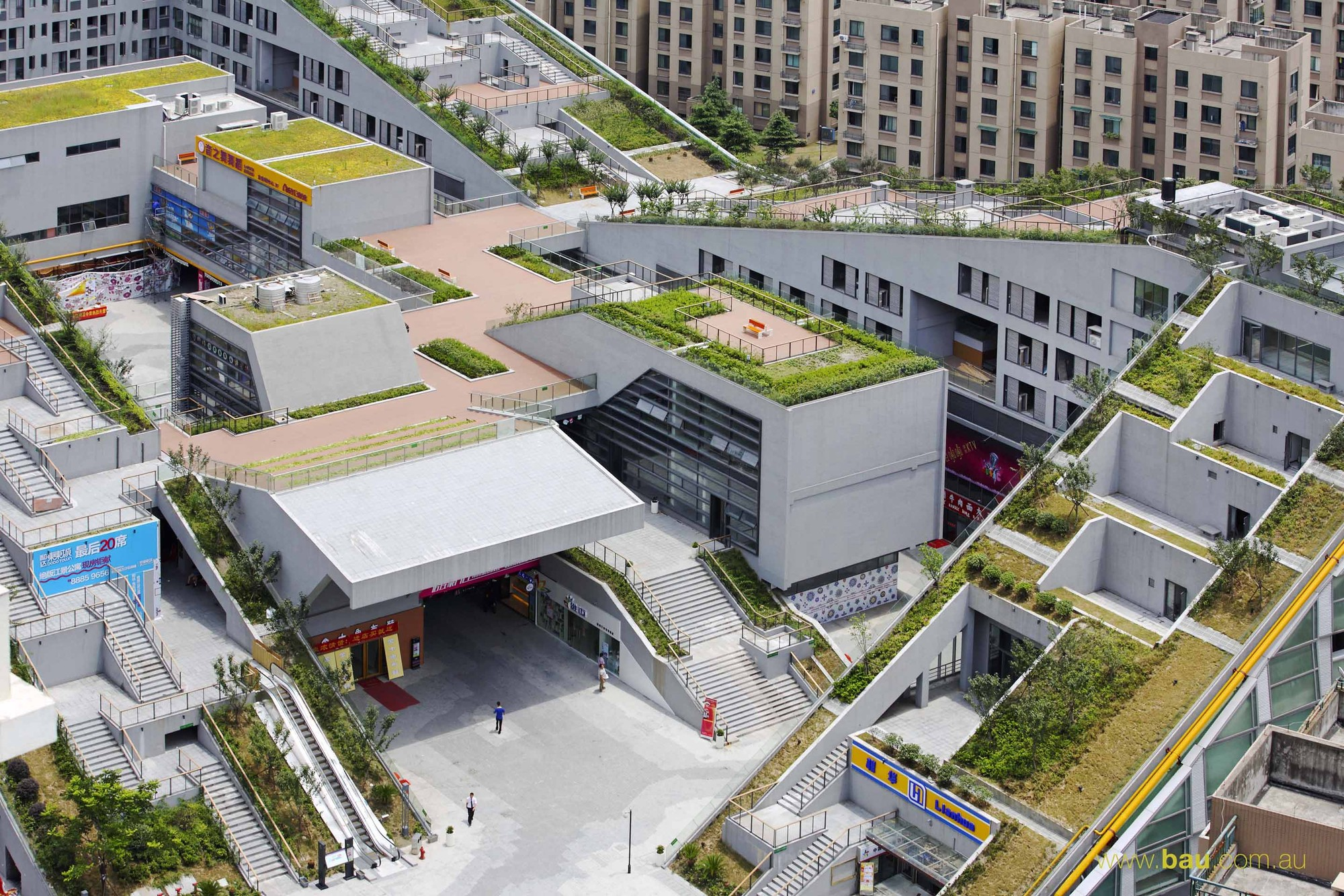 Hangzhou Duolan Commercial Complex Bau Brearley Architects Urbanists Archdaily