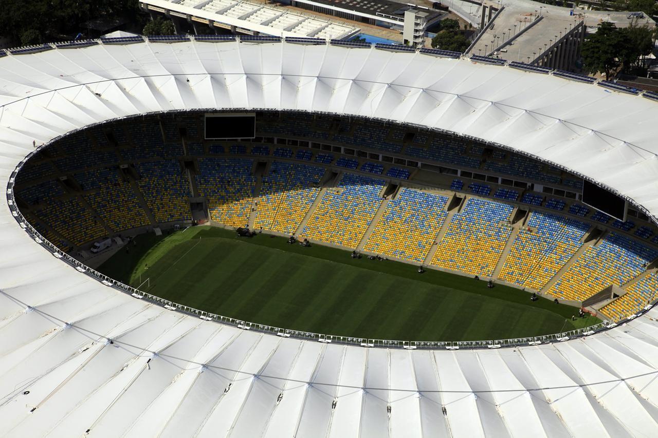 """Lançamento do livro """"Arenas do Brasil - Arquitetura e engenharia nos estádios brasileiros para a Copa de 2014"""", Maracanã. Image Courtesy of Fernandes Arquitetos Associados"""
