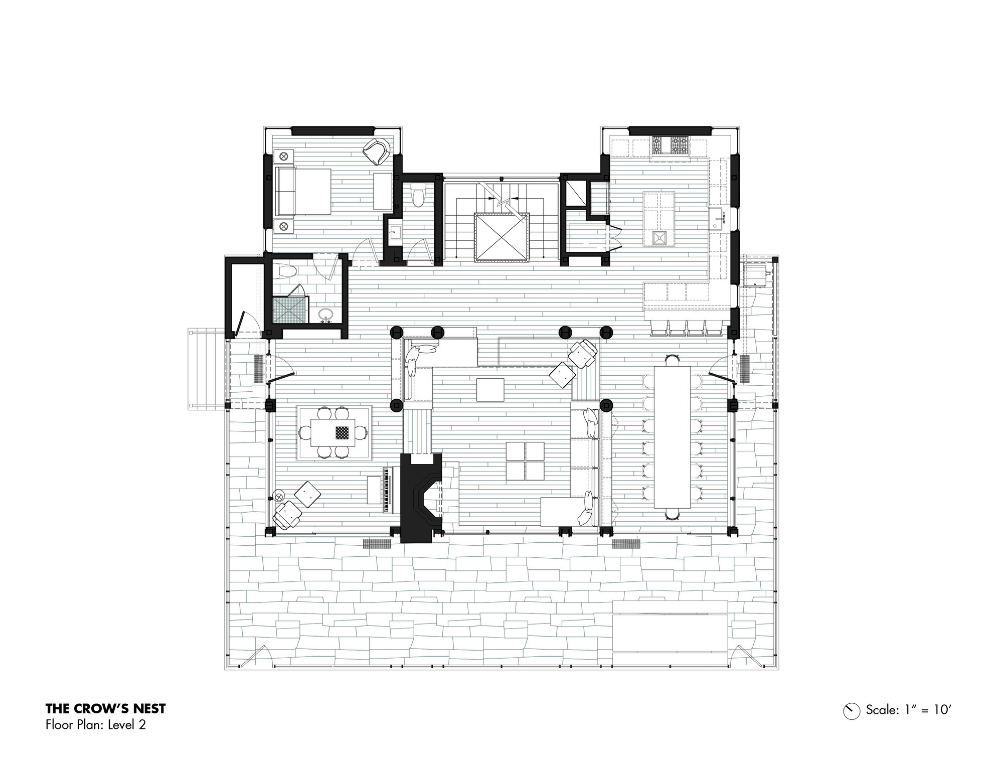 Coastal house plans with crows nest for Crows nest house plans