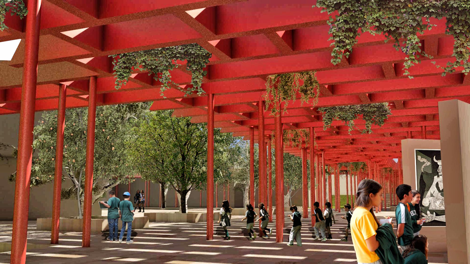 Segundo Lugar en concurso Colegio Colombo Británico de Cali / Colombia, Courtesy of Espacio Colectivo Arquitectos S.A.S.