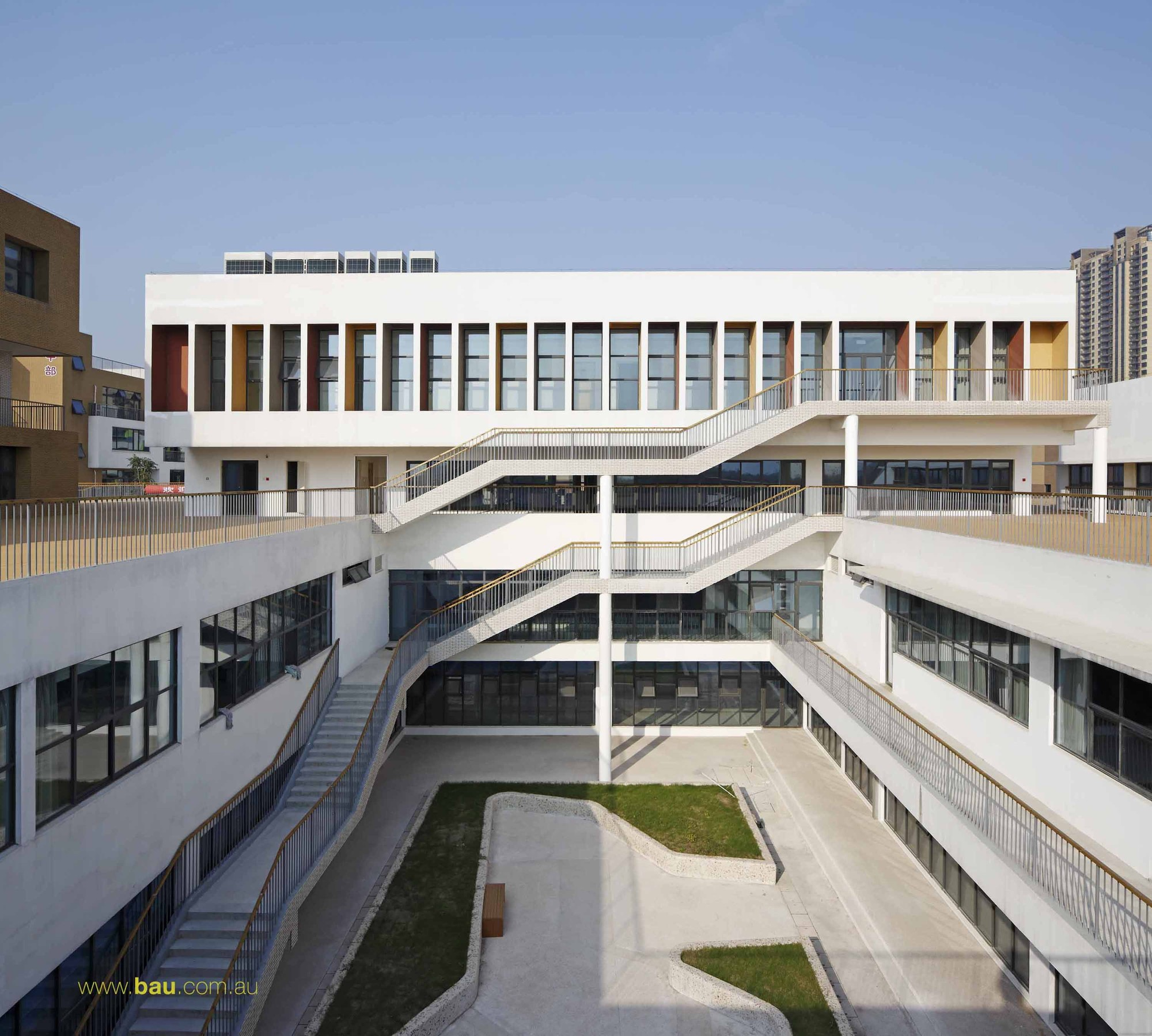 Jiangyin primary secondary school bau brearley for School building design