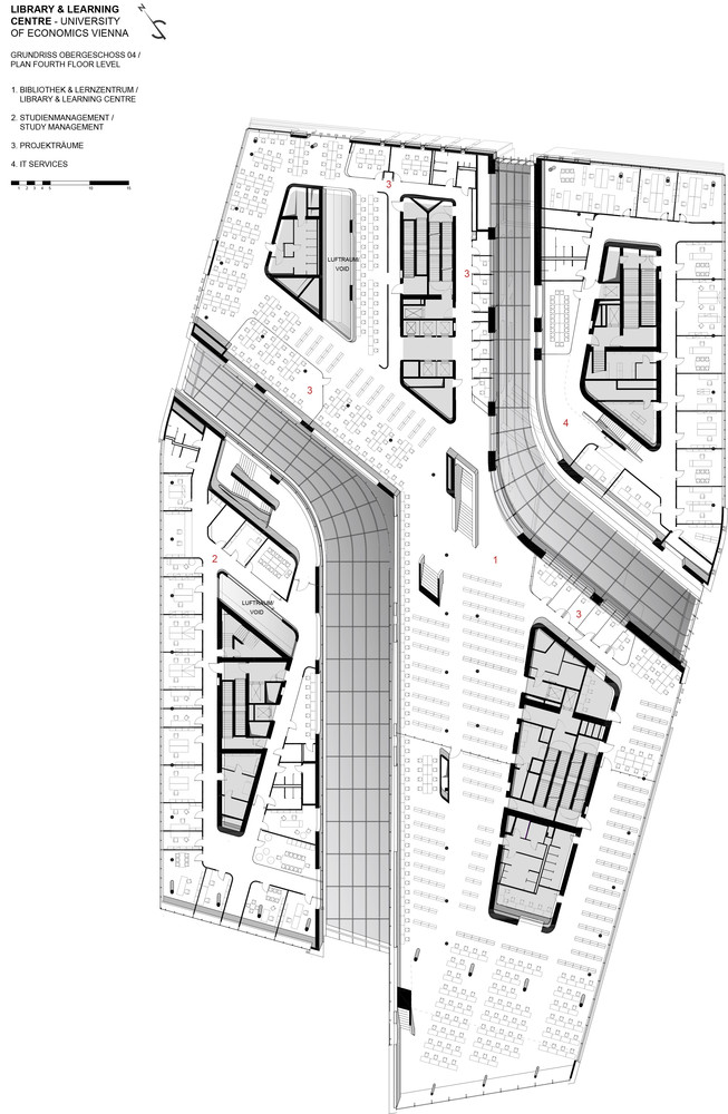library and learning centre university of economics viennafloor plan - Vienna House Plans