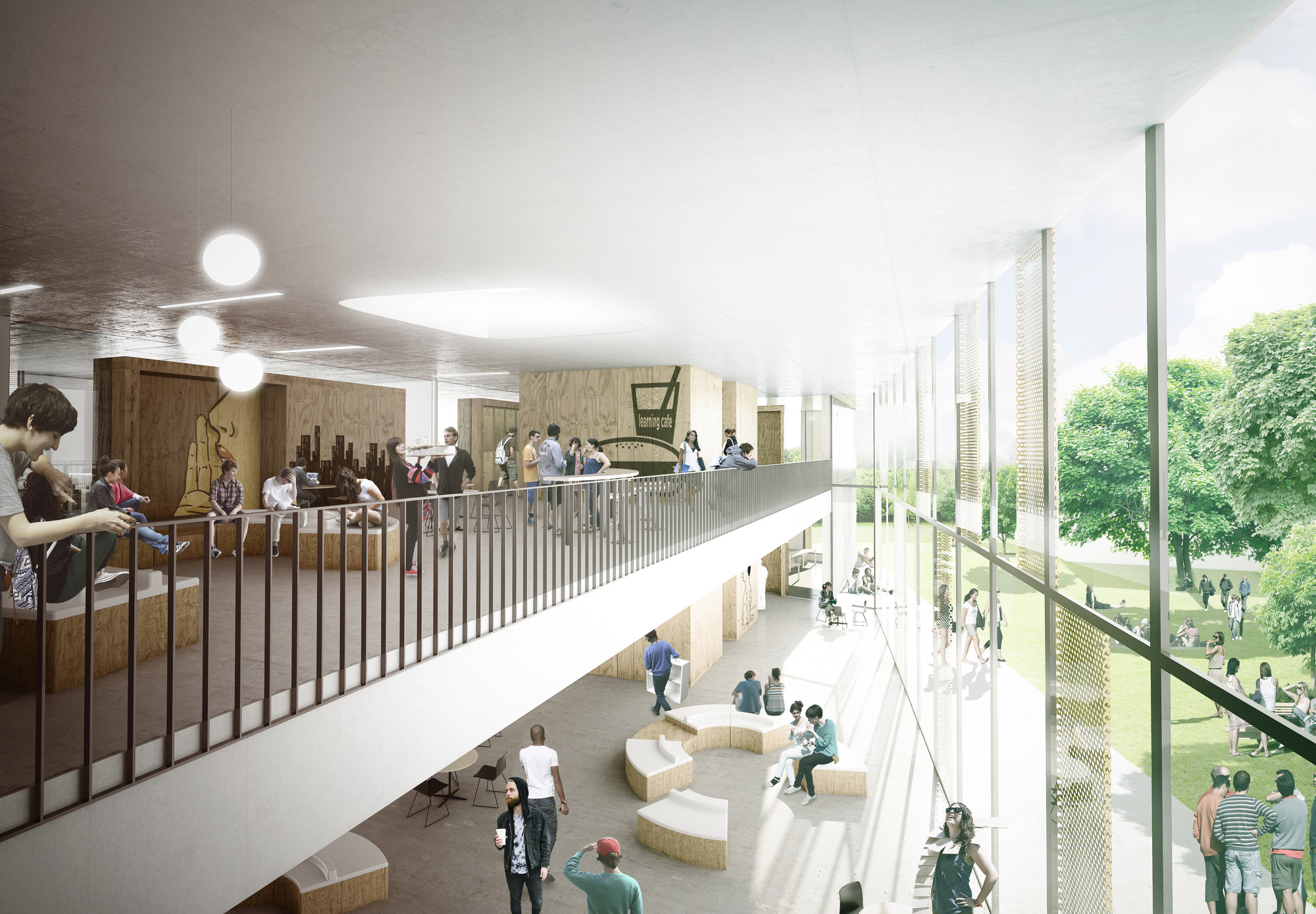 Gallery of c f m ller selected to design vocational - Interior design for school buildings ...