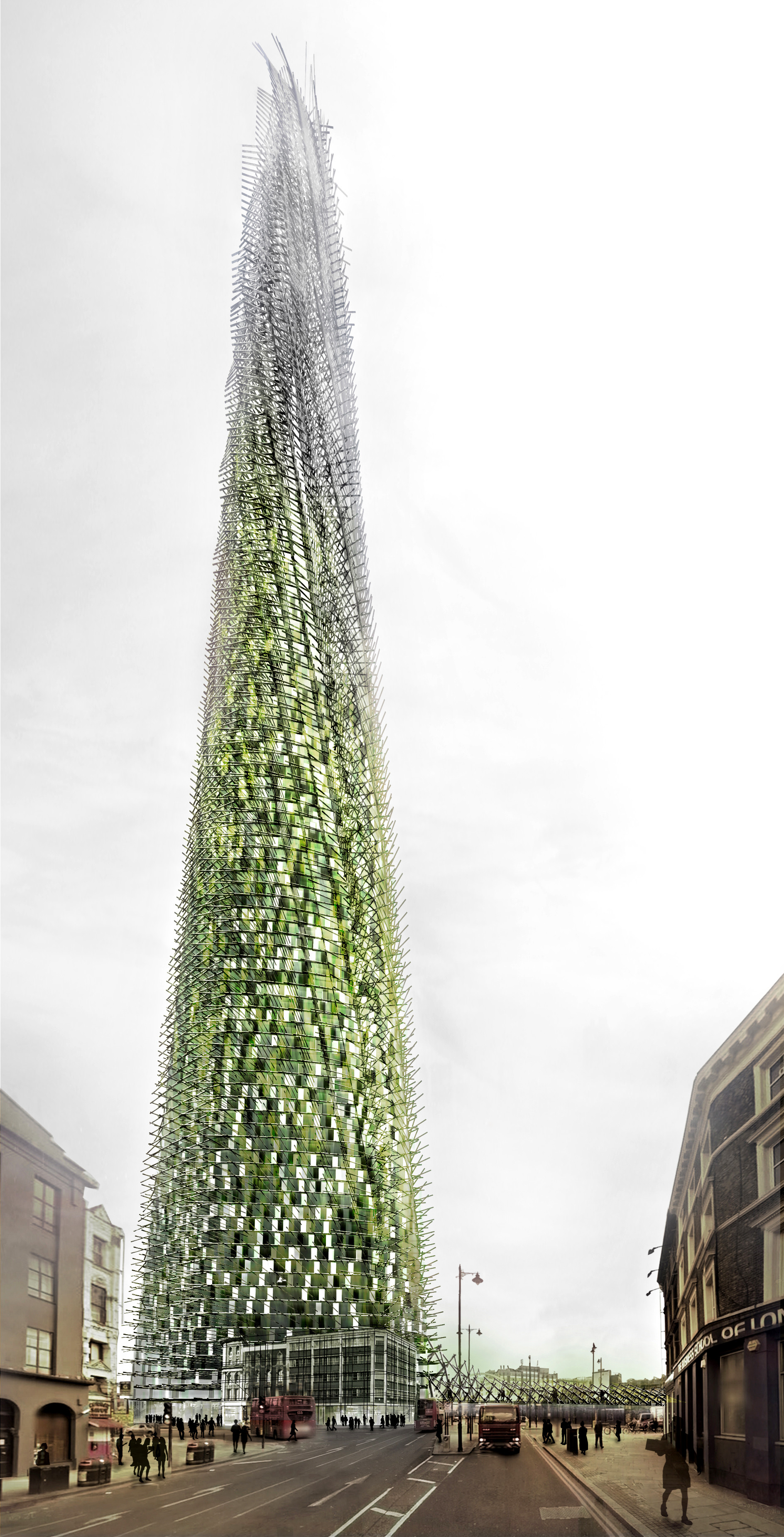Organic London Skyscraper Grows As Residents Recycle