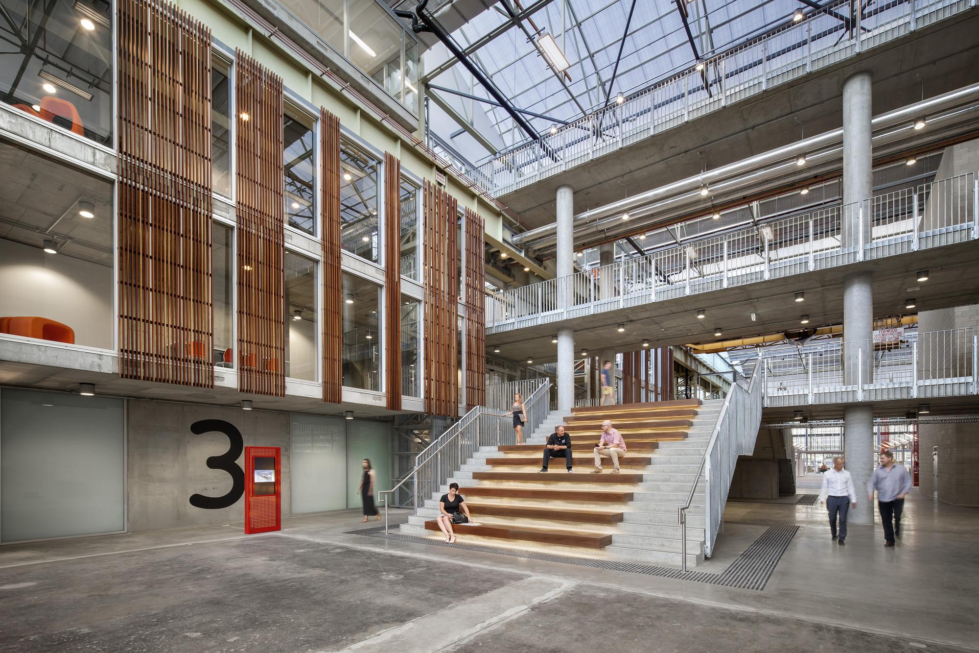 Mezzanine Cafe Industrial Loft