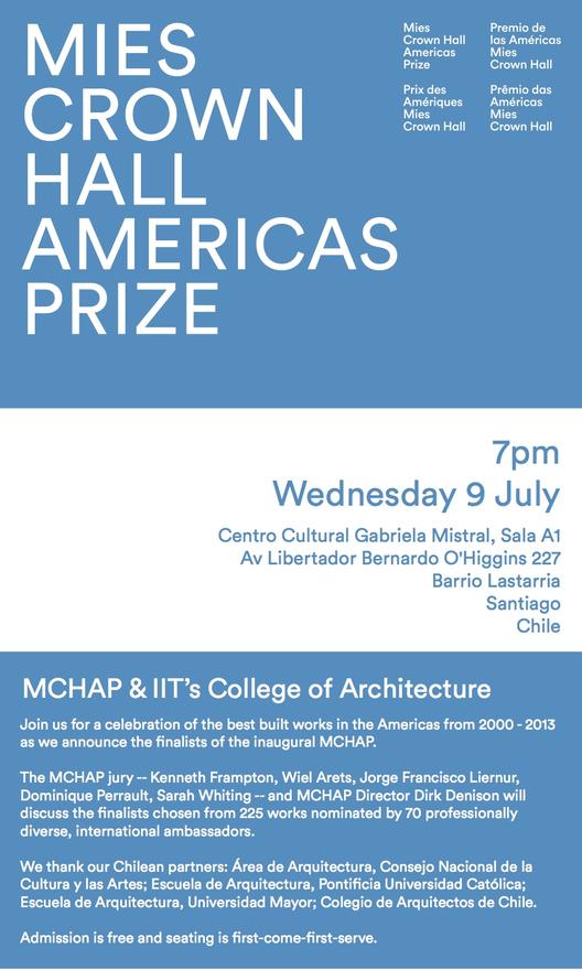 Mies Crown Hall Americas Prize premiará a los mejores edificios construidos en las Américas este miércoles, Cortesía de MCHAP