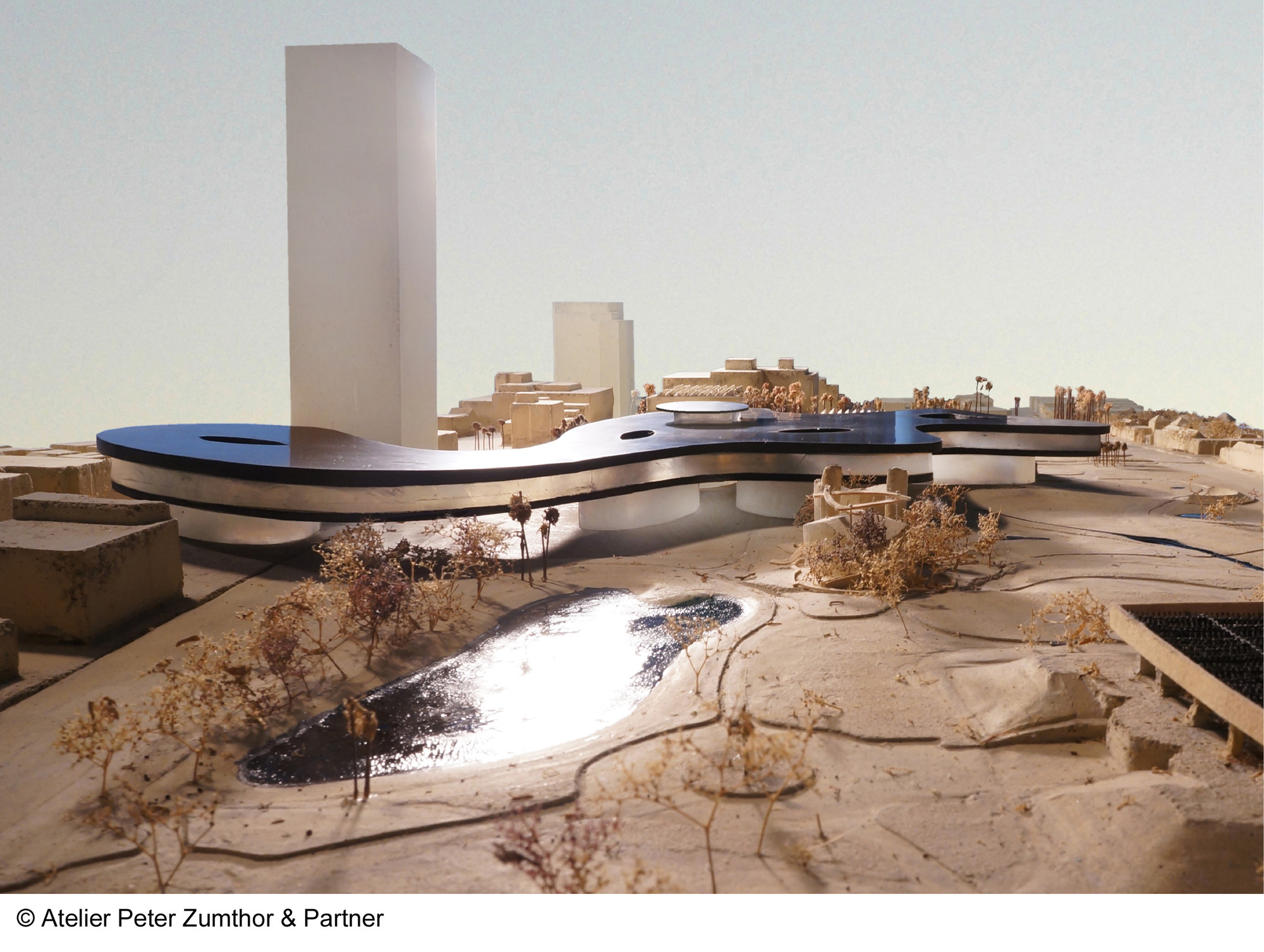 Peter Zumthor & LACMA Unveil Revised Museum Design, Model of the new design. Image © Atelier Peter Zumthor & Partner