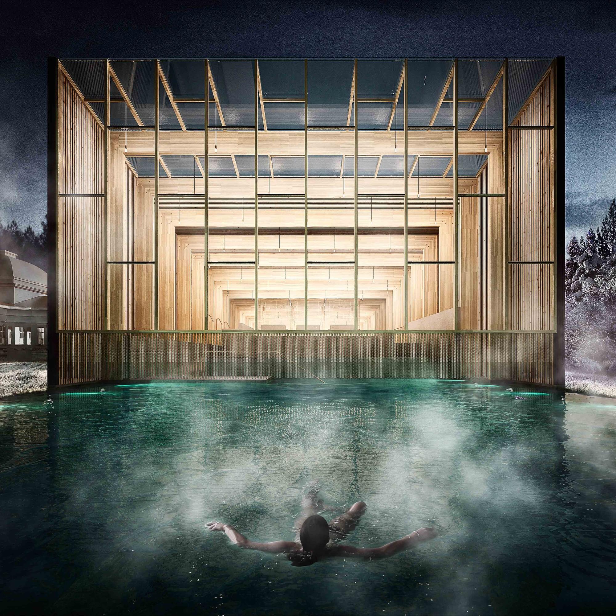Primer Lugar  'Rebirth of the bath house' / Letonia, Courtesy of Bodega&Piedrafita Arquitectos